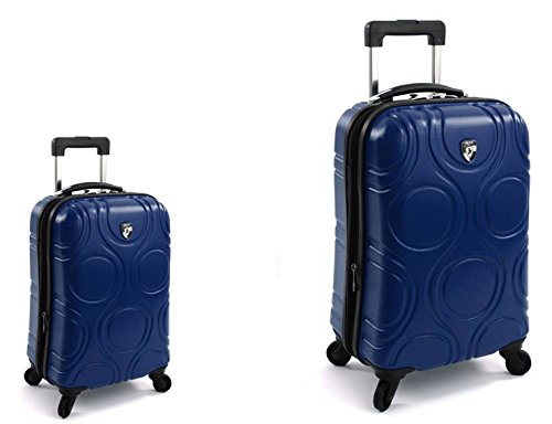 PREMIUM DESIGNER Hardside Luggage set 2 pcs. - Heys Core Eco Orbis Blue Trolley with 4 Wheels Medium + Trolley with 4 Wheels Large 470575031&Core&97+98 (Samsonite Hardside Gepäck)