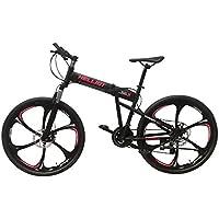Helliot Bikes Hummer 01, Mountain Bike Pieghevole Unisex – Adulto, Nero, M-L