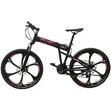 Helliot Bikes Hummer 01 Bicicleta de montaña Plegable, Adultos Unisex, Negra, ...