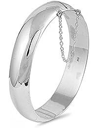 925 Bracelet à Fermoir en Argent Fin - 15mm - Epaisseur: 15 mm