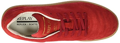 Replay Replica Scatto, Baskets Basses Pour Femmes Rouge (rot (red 47))