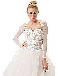 0393bd5f9362 Semplice ed Elegante Coprispalle nuziale Stile Bolero da Sposa