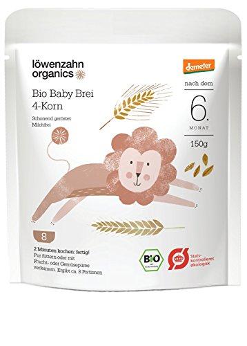 Löwenzahn Organics Demeter Baby Brei 4-Korn 6+ Monate