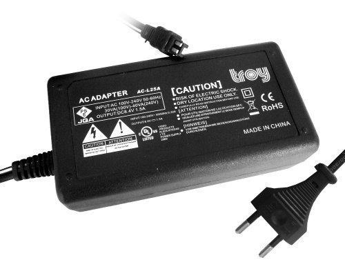 Troy-Netzteil, Strom-Adapter, Ladegerät für AC-L25A, AC-L25B, AC-L200passend für Sony CX130E, CX155E, CX210E, CX12, CX500V, CX520V, CX7HDR-, SR11, SR5SR5C SR8HDR SR5 Cx12-serie