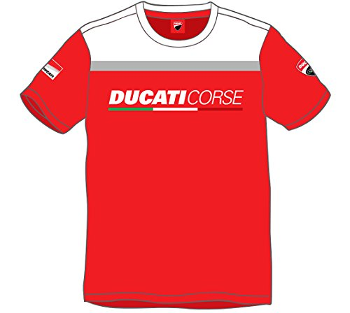 tee-shirt-ducati-homme-yoke-contrast-rouge-blanc-taille-xl