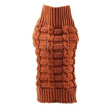 Chiens Chemises,Manteau De Costume De Manteau De Manteau Chaud d'hiver De Chat De Chien d'hiver,Chiens Textiles et Accessoires (XL, Marron)