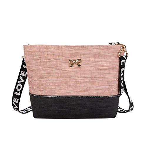 BZLine® Frauen Leder Umhängetasche Tasche Beutel Tasche Tasche Handtasche Pink