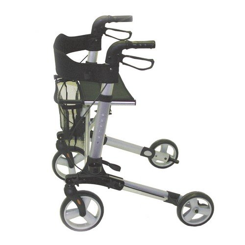 Days Deluxe Lightweight Rollator, Height Adjustable Rollator that Folds for Easy Storage and Transportation, Limited Mobility Aid, Seat Height 610 mm, (Eligible for VAT relief in the UK)