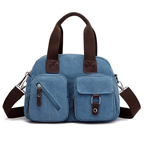 XUZISHAN Handtaschen Weiblichen Hobos Leinwand Single Umhängetaschen Vintage Solid Multi-Pocket Damen, 01. - Zebra Hobo Handtasche