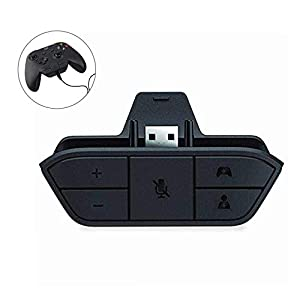 leegoal Xbox One Stereo-Headset-Adapter Spiel Audio-Chat-Mikrofon f¨¹r Microsoft Xbox One Controller (Schwarz)