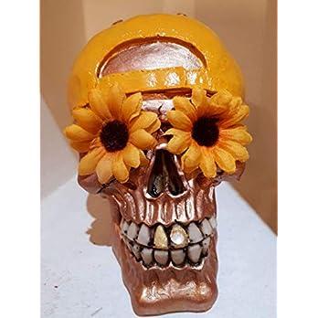 Handgefertigter Totenkopf Sunflower