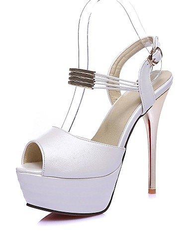UWSZZ IL Sandali eleganti comfort Scarpe Donna-Sandali-Serata e festa / Formale-Spuntate / Plateau / Aperta-A stiletto-Finta pelle-Blu / Rosa / Bianco / Fuchsia Pink