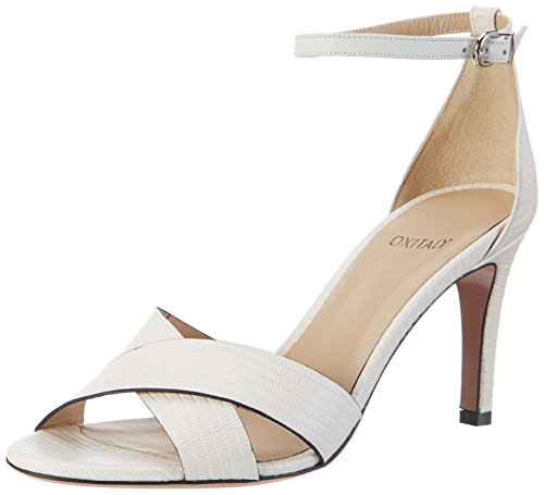 Oxitaly Safiana 113, Sandales  Bout ouvert femme Weiß (BIANCO)
