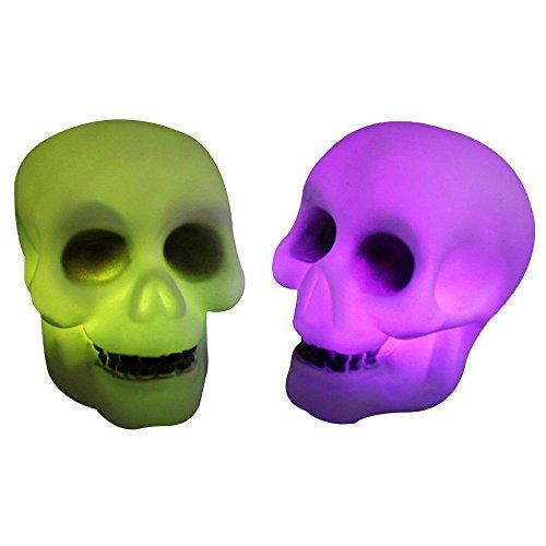 Halloween Deko Grusel Dekoration Set Halloween Rainbow Flash LED Scheinwerfer Nachtlichter 2 Pack für Halloweendeko Make-up-Party Halloween Dekoration