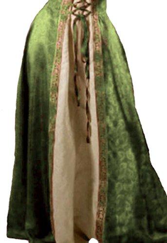 Dark Dreams Mittelalter Kleid Brautkleid Kleid Muira, Größe:L/XL, Farbe:olivgrün/natur