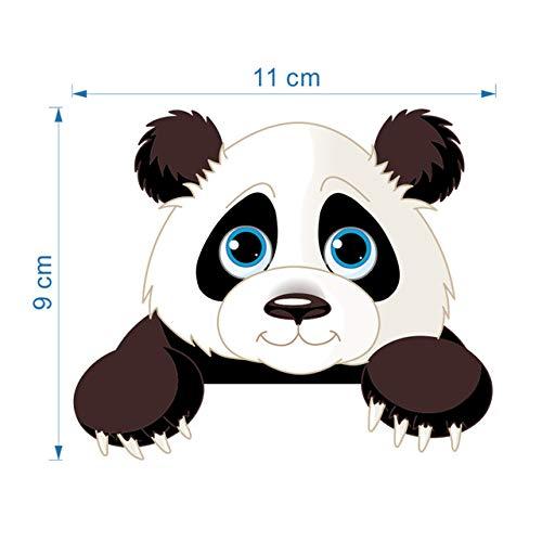 Panda Bambus Pflanze Höhe messen Wandaufkleber für Kinderzimmer Tier Wandtattoo Schalter Wandkunst (Panda-bambus-pflanze)
