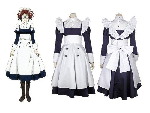 Black Butler Mey-Rin cosplay Kostüm, Größe L:(165-170 (Kostüm Butler Black Mey Rin)