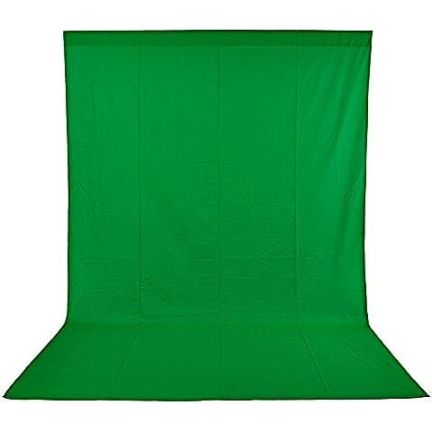 Neewer 10083667 Pro  Fondo fotográfico 1,8 x 2.8M, Plegable Telón de Fondo de 100% Pura Muselina para Estudio fotográfico para Fotografía, Vídeo y Televisión, Verde, Incluye únicamente el