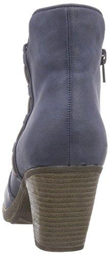 Rieker 98789 Damen Kurzschaft Stiefel Blau (denim/dust / 14)