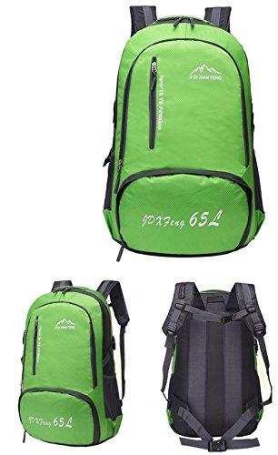 65L impermeabile esterna di grande capienza maschile alpinismo pacchetto  femminile borsa da viaggio a tracolla sportiva ... c964b1f9b3d