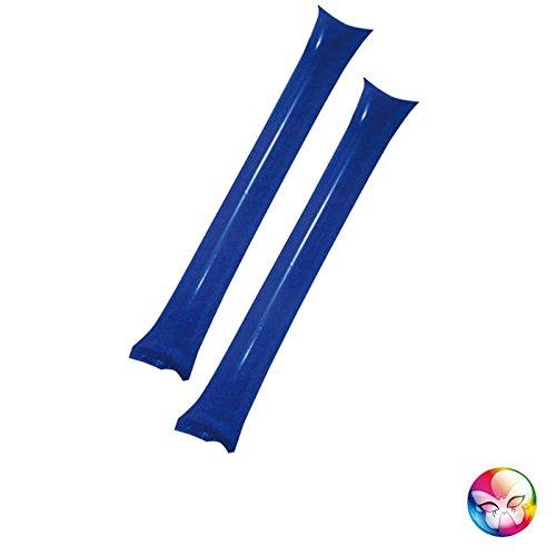 Aptafêtes–AC5250/azul–Set de 2gourdins hinchables Azul–tamaño 60x 10cm