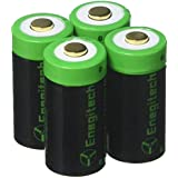 Arlo Batteries Rechargeable, Enegitech 8 Pack CR123A Rechargeable Batteries 3.7V 750mAh RCR123A 16340 Li-ion Battery For Arlo Cameras, Flashlight, Security System