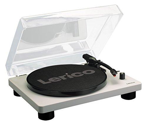 Lenco Platine Vinyle LS-50 Tourne-Disque avec boîtier en Bois et Haut-Parleur, USB, Conversion Vinyle à numérique, Housse de Protection, entraînement par Courroie, 2 x Stylet (Aiguille)
