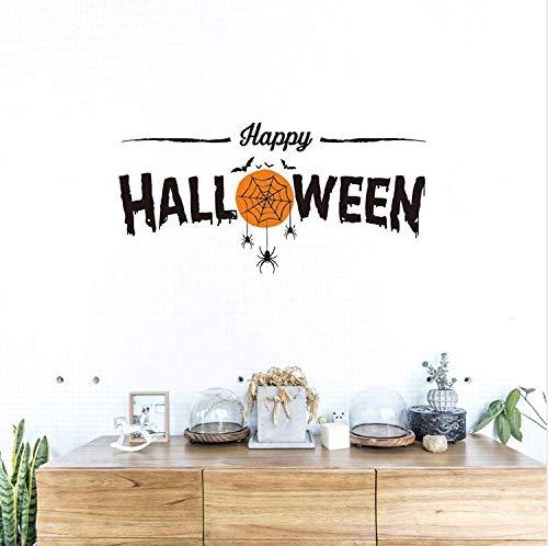 Miss Zhang's shop Happy Halloween Hexe Ghost Bat Katze Wandaufkleber Für Wohnzimmer Fenster Glas Decor Home Vinyl Wandbild Wandkunst Aufkleber