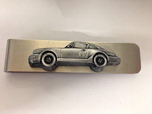Edelstahl Geld Clip mit Einem Porsche 911Carrera 3D Zinn Effekt Emblem ref193