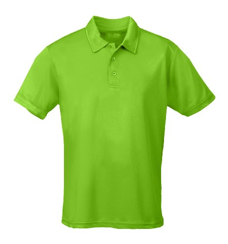 Just Cool - Performance - Performance Polo Shirt, atmungsaktiv, Shirt, atmungsaktiv, M,Lime