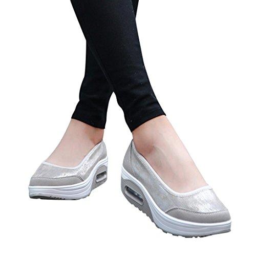 Scarpe Estive Donna,Scarpe Eleganti,Scarpe Sneaker,Scarpe Sportive,Yanhoo®Moda Donna Cuscino D'Aria Piattaforma Scarpe Shake Scarpe Slip Sport Sneakers (39=Asia 40, Grigio)