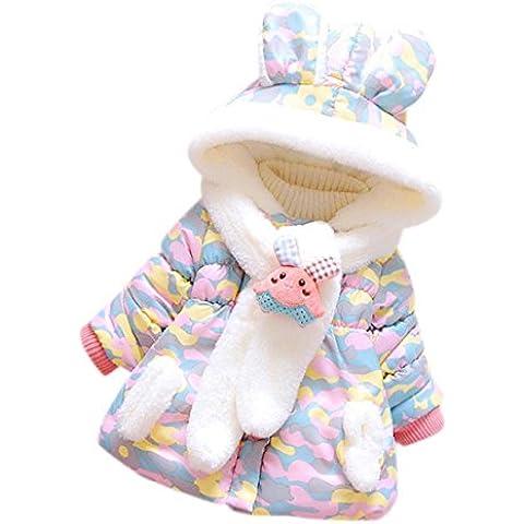 ZARU Las niñas bebé para el invierno cálido con capucha chaqueta de la capa de ropa caliente grueso Z-2