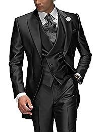 Suit Me sur mesure Hommes 3 diviseur Costume Pour soir¨¦e de mariage veste de costume de smoking, veste, pantalon