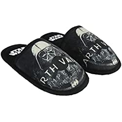 Cerdá Premium Star Wars, Zapatillas de Estar por casa para Niños, (Negro C02), 40 1/3 EU