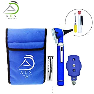 ADS Medicare Blue Otoscope and Ophthalmoscope Set ENT Medical Diagnostic Examination CE Approved