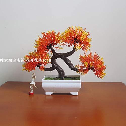 WANGLETA Künstliche Blumen Topfpflanzen grüne Pflanze kleine Topfpflanzen desktop Kunststoff pflanze Drachenbaum weiter Künstliche Blumen für Wohnkultur, Hochzeit, Partys, Büros, Restaurants Wohnzimmer Schlafzimmer aufgehängt werden