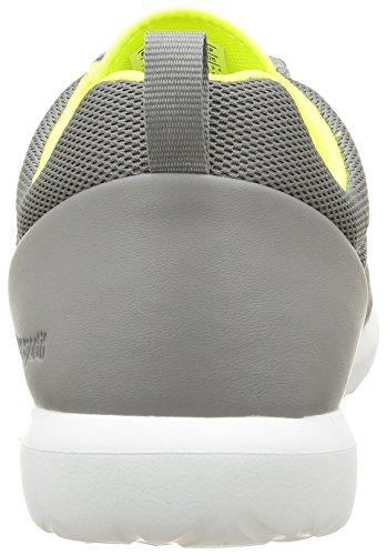 Le Coq Sportif Dynacomf Classic, Baskets Basses homme Gris (Titanium/Safety Yellow)