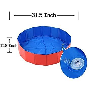 BIGWING STYLE Piscine pour Chiens Bassin/Piscine Baignoire pour Chien Pliable Anti-Glissant Plastique en PVC Facile à Nettoyer 80*30