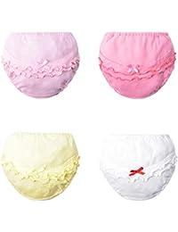 Pantalones de Entrenamiento para Bebé 4 Paquetes, Morbuy Niños Niñas Bragas de Aprendizaje Reutilizable para niños Pequeños de Algodón pañales Ropa Interior