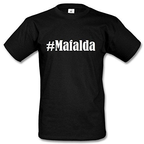 T-Shirt #Mafalda Hashtag Raute für Damen Herren und Kinder ... in der Farbe Schwarz Schwarz