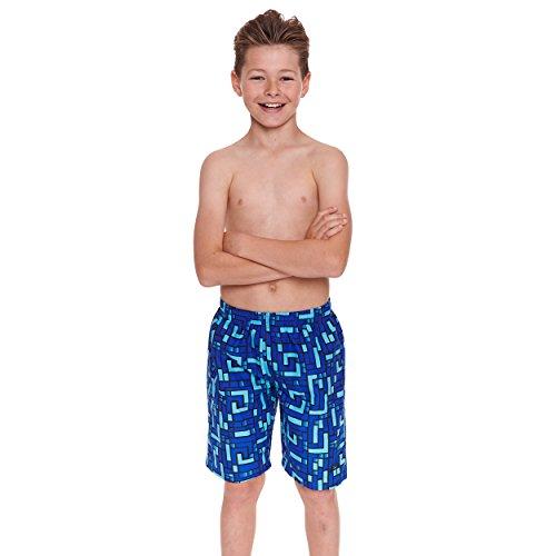 """Zoggs GridWork –Traje de baño para niño, color azul/multicolor, 17""""/Grande"""
