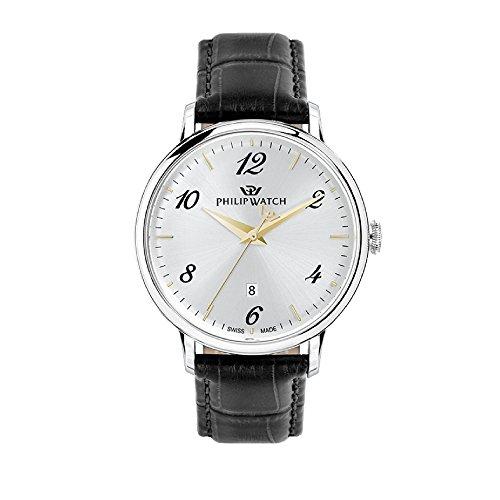PHILIP WATCH Reloj Analógico para Hombre de Cuarzo con Correa en Cuero R8251595006