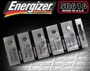 Energizer-pile SR616SW 321 Lot de 5)