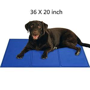 Lauva Tapis frais pour chien, chiens Self refroidissement Gel Tapis de coussinets pour animal domestique Chat Cool Lit pour chien pour apporter aux caisses, et lits