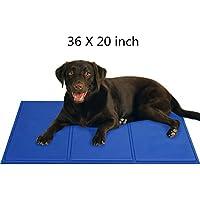 Lauva Selbstkühlende Hundedecke mit Gel Pads als kühle Matte für Hunde und Katzen in Betten, Transportkisten, Zwingern 50 x 90 cm