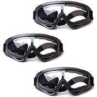 HONGCI 3 Pack Gafas de Seguridad para Niños,Juegos para Nños al Aire Libre Gafas Protectoras para Pistola de Espuma Blasters y Laboratorio Gafas de Seguridad para el Trabajo