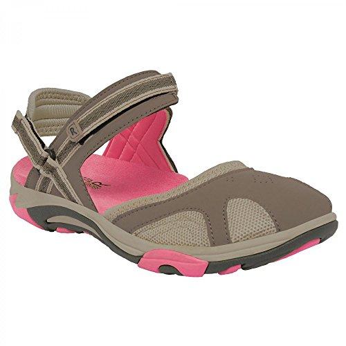 Regatta Lady Hayworth, Chaussures de Running Compétition Femme Gris - Grey (Walnut/Tulip)