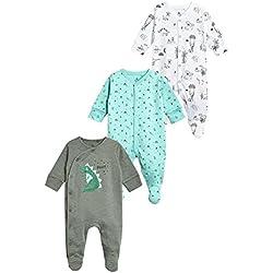 next Bebé-Niños Pack De Tres Pijamas Tipo Pelele De Dinosaurios (0 Meses - 2 Años)
