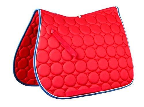 Roma Kreis Quilt Allzweck Sattel Pad, Red Orange White Dark Denim (Schabracke Horse Orange)