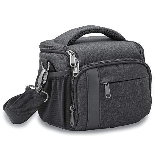 Silmo kompakte Kameratasche mit Regenschutz geeignet für Spiegelreflexkamera, Kamera und Systemkamera, Gr. L schwarz